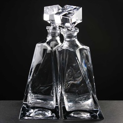 The Lovers Decanters made a supreme 4th Wedding Anniversary Gift. Two decanters, intertwined.