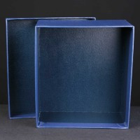Award Box No Compartments 7.25x8x3.5 inches, Single, White Sleeve