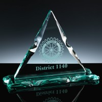 Rock Tablet 9.5 x 3.25 x 7 inch Sutherland Triangle Award, Single, Blue Boxed